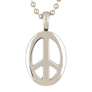 NEW LAGOS Sterling Silver Peace Pendant Necklace